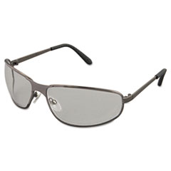 Uvex Tomcat Safety Glasses, Gun Metal Frame, Clear Lens