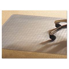 PVC Chair Mat for Medium Pile Carpet, 46 x 60, No Lip, Clear