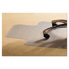 PVC Chair Mat for Standard Pile Carpet, 45 x 53, 25 x 11 Lip, Clear