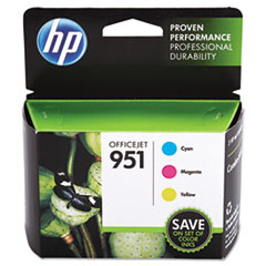 HP 951, (CR314FN) 3-pack Cyan/Magenta/Yellow Original Ink Cartridges