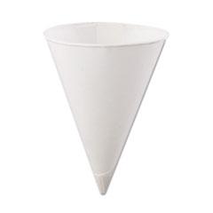 KONIE 4.5OZ ROLLED RIM PAPER CONE CUPS WHITE BOXED 5000CS