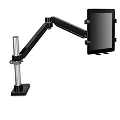 Easy-Adjust Monitor Arm Tablet Accessory, 4 1/2 x 1 1/4, Black