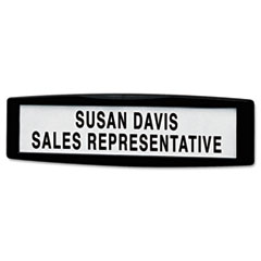 Plastic Partition Additions Nameplate, 9 x 2 1/2, Graphite FEL75906