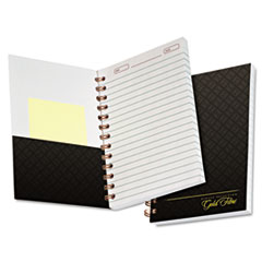 Gold Fibre Personal Notebook, College/Medium, 5 x 7, Grey Cover, 100 Sheet TOP20803