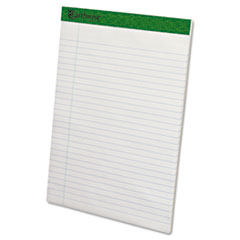 Earthwise Recycled Writing Pad, 8 1/2 x 11 3/4, White, Dozen