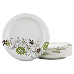 "Pathways Mediumweight Paper Plates, in Dispenser Box, 8 1/2"", 300/Pack DXEUX9PATHPBBX"