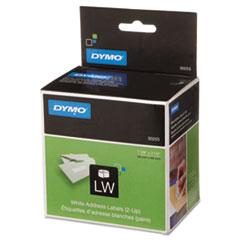2-UP LabelWriter Address Labels, 1-1/8 x 3-1/2, White, 700 Lbls/Roll, 1 Roll