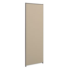Versé Office Panel, 24w x 72h, Gray