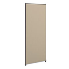 Versé Office Panel, 24w x 60h, Gray