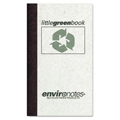 Little Green Book, Gray Cover, Narrow Rule, 5 x 3, White Paper, 60 Sheets
