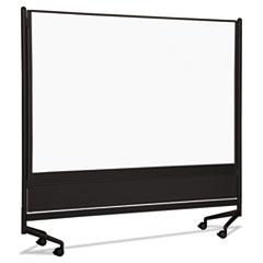 D.O.C. Mobile Double-Sided Marker Board Divider, 72 x 72, Black BLT74902