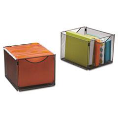 Onyx Mesh Cube Bins, 12 1/2w x 14d x 10h, Black, 2/Pack SAF2173BL