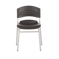CaféWorks Chair, Blow Molded Polyethylene, Graphite/Silver, 2/Carton