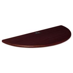 Height-Adjustable Flipper Table Top, Half-Round, 48w x 24d, Mahogany BLT90304