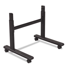Height-Adjustable Flipper Table Base, 48w x 24d x 28-1/2 to 45h, Black BLT90315