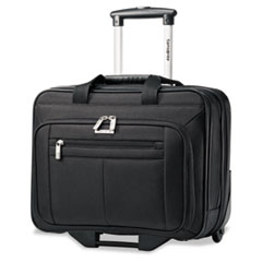 Rolling Business Case, 16 1/2 x 8 x 13 1/4, Black