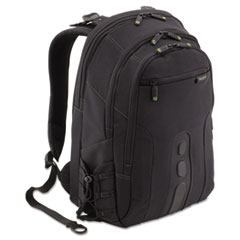 Spruce EcoSmart Backpack, 13 x 8 1/4, x 18 3/4, Black