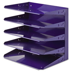 Soho Horizontal Organizer, Letter, Five Tier, Steel, Blue