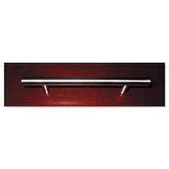 Bar-Style Door/Drawer Handle, Tubular Steel, 6w x 1d x 1/4h, Polished Chrome MLNBP6PCS