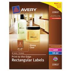 Rectangular Avery Labels