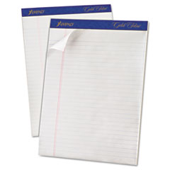 Gold Fibre Pads, 8 1/2 x 11 3/4, White, 50 Sheets, Dozen