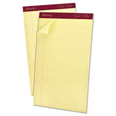 Gold Fibre Pads, 8 1/2 x 14, Canary, 50 Sheets, Dozen