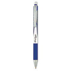 Z-Grip Flight Retractable Ballpoint Pen, 1.2 mm, Bold, Blue, Dozen