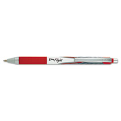 Z-Grip Flight Retractable Ballpoint Pen, 1.2 mm, Bold, Red, Dozen