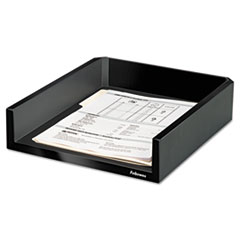 Design Suites Letter Desk Tray, 11 1/10 x 13 x 2 1/2, Black Pearl