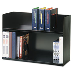 Two-Tier Book Rack, Steel, 29 1/8 x 10 5/16 x 20, Black