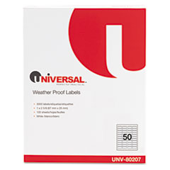 Universal Weatherproof Permanent Adhesive Labels