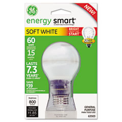 Compact Fluorescent Bulb, A19, Soft White