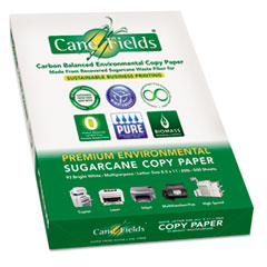 Sugarcane Copy Paper, 93 Bright, 8 1/2 x 11, 20#, White, 2500 Sheets CNF8511