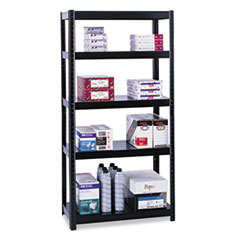 COU ** Boltless Steel Shelving, 5 Shelves, 36w x 24d x 72h, Black at Sears.com