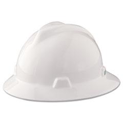 MSA V-Gard Hard Hats, Staz-On Pin-Lock Suspension, White