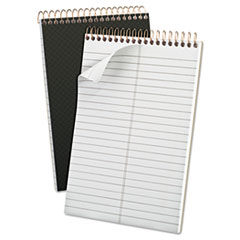 Gold Fibre Spiral Steno Book, Gregg, 6 x 9, Grey Cover, 100 Sheets TOP20808