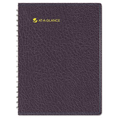 Eight-Person Group Practice Daily Appointment Book, 8-1/2 x 11, Black, 2014 AAG7021274