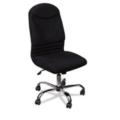 Olympus Big & Tall Chair, Black Back/Seat, Chrome Base