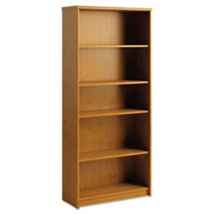 Envoy Series Five-Shelf Bookcase, 29 7/8w x 11 3/4d x 66 3/8h, Natural Cherry
