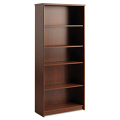 Envoy Series Five-Shelf Bookcase, 29 7/8w x 11 3/4d x 66 3/8h, Hansen Cherry