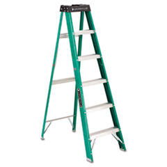 MotivationUSA * #592 Six-Foot Folding Fiberglass Step Ladder, Green/Black at Sears.com