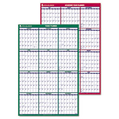 Vertical Erasable Wall Planner, 24 x 36, Front - 2017, Reverse - 2016-2017