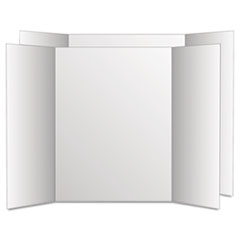 Too Cool Tri-Fold Poster Board, 28 x 40, White/White, 12/Carton