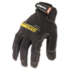 General Utility Spandex Gloves, Black, Large, Pair