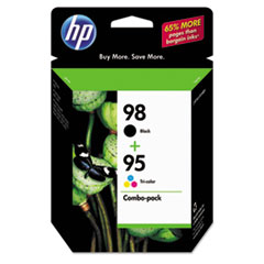 HP 98, (CB327FN) Black / HP 95, Tri-Color 2-pack Original Ink Cartridges