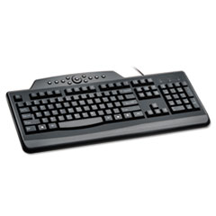 Pro Fit Wired Media Keyboard, Full Size, Black