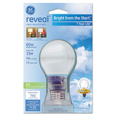 Compact Fluorescent Bulb, A19, Reveal