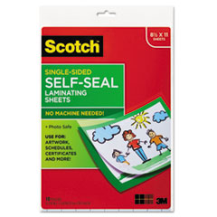 Self-Sealing Laminating Sheets, 6.0 mil, 8 1/2 x 11, 10/Pack
