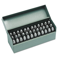 36-Piece Combination Letter and Number Stamp Set, 1/8""
