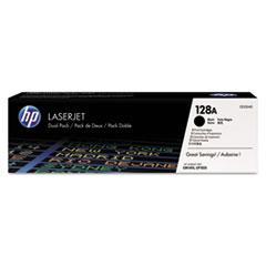 HP 128A, (CE320A-D) 2-pack Black Original LaserJet Toner Cartridges